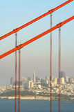 Golden Gate Bridge and the City Stock Image