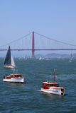 Golden Gate Bridge | Classic Yachts Royalty Free Stock Photos