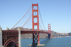 Golden Gate Bridge on a clear day. The Golden Gate Bridge on a clear day Stock Photography