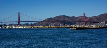 Golden Gate Bridge on a clear day Royalty Free Stock Photos
