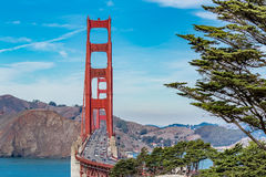 Golden Gate bridge on a clear day stock images