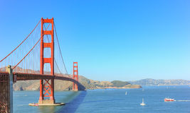 Golden Gate bridge with the clear sky. Royalty Free Stock Images
