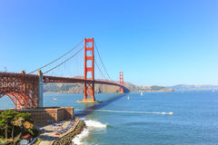 Golden Gate bridge with the clear sky. Royalty Free Stock Photo