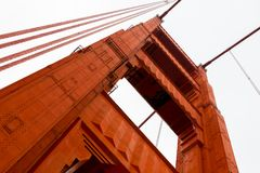 Golden Gate Bridge. Close-up  Golden Gate Bridge, San Francisco, California, USA Royalty Free Stock Photography