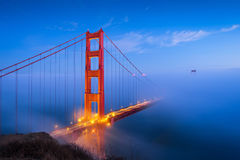 Golden Gate Bridge & Clouds. Golden Gate Bridge in the middle of the fog Royalty Free Stock Photo