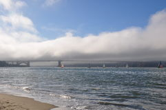 Golden Gate bridge with clouds - San Francisco Stock Photography