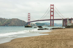Golden gate bridge in cloudy day Royalty Free Stock Photos