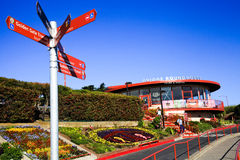 Golden Gate Bridge Colorful Visitor Center Royalty Free Stock Image