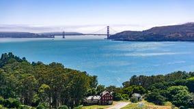 Golden gate bridge como visto de Angel Island, Calif?rnia fotos de stock royalty free