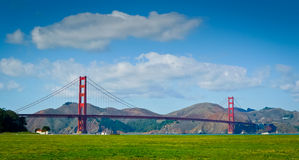 Golden Gate Bridge from Crissy Field Stock Photos
