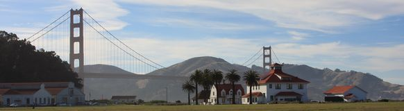 Golden Gate Bridge. From Crissy Field Royalty Free Stock Photography