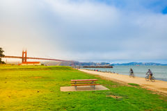 Golden Gate Bridge Crissy Field Royalty Free Stock Photo
