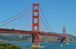 Golden Gate Bridge. Crossing San Francisco Bay in California Royalty Free Stock Images