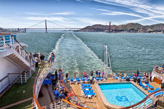 Golden Gate Bridge Cruise Ship View Royalty Free Stock Photo