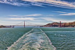 Golden Gate Bridge Cruise Ship View Stock Photography