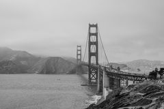 Golden gate bridge da area 32 di Cranston della batteria Fotografie Stock