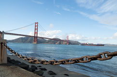 Golden gate bridge da punto forte a San Francisco Fotografie Stock Libere da Diritti