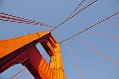 Golden gate bridge dans la lumière d'après-midi Image stock
