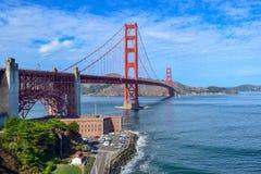 Golden gate bridge dat van Fortpunt wordt gezien, San Francisco, Californië stock afbeelding