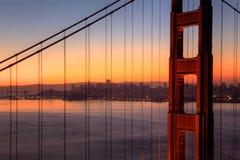 Golden Gate Bridge at Dawn Stock Photography
