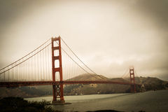Foggy Golden Gate Bridge Stock Photos