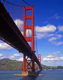 Golden Gate Bridge Daytime. The Golden Gate Bridge, in San Francisco, California, photographed from Fort Point Stock Photos