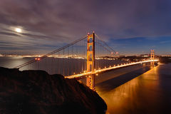 Golden gate bridge in de Stad van San Fracisco Stock Afbeeldingen