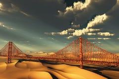 Golden gate bridge in der Zukunft Stockfotografie