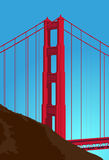 Golden Gate Bridge Detail Stock Photography