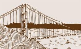 Golden Gate Bridge Detail Royalty Free Stock Photography
