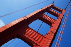 Golden Gate Bridge in Detail Royalty Free Stock Images