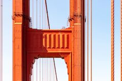 Golden Gate Bridge detail on a sunny day royalty free stock photos