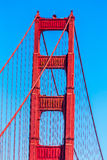 Golden gate bridge-details in San Francisco California Stock Afbeeldingen