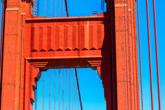 Golden Gate Bridge details in San Francisco California Stock Images