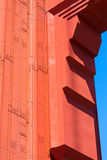 Golden Gate Bridge details in San Francisco California Royalty Free Stock Photo
