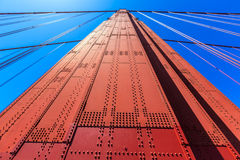 Golden Gate Bridge details in San Francisco California Stock Photos