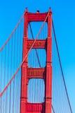 Golden gate bridge detaljer i San Francisco California Arkivbilder