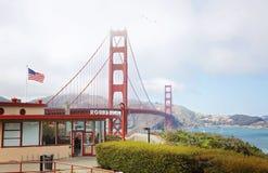 Golden gate bridge di meraviglia immagini stock libere da diritti