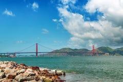 Golden gate bridge dnia krajobraz, San Fransisco Obrazy Stock