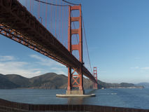 Golden gate bridge do ponto do forte Imagem de Stock