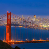 Golden Gate Bridge and downtown San Francisco Stock Image