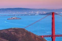 Golden Gate Bridge and downtown San Francisco. USA Royalty Free Stock Photo