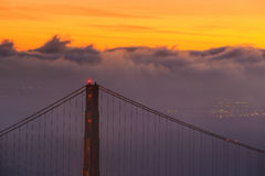 Golden Gate Bridge and downtown San Francisco Royalty Free Stock Photo