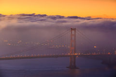 Golden Gate Bridge and downtown San Francisco Royalty Free Stock Photography