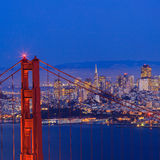 Golden Gate Bridge and downtown San Francisco. USA Royalty Free Stock Images