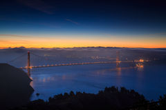 Golden Gate Bridge and downtown San Francisco. USA Stock Image