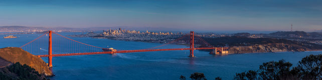 Golden Gate Bridge and downtown San Francisco. USA Stock Photos