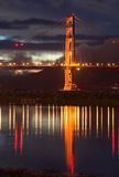 Golden Gate Bridge at dusk Royalty Free Stock Images