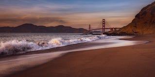 Golden Gate Bridge at Dusk stock photos
