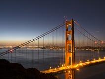 Golden Gate Bridge at dusk Stock Photo